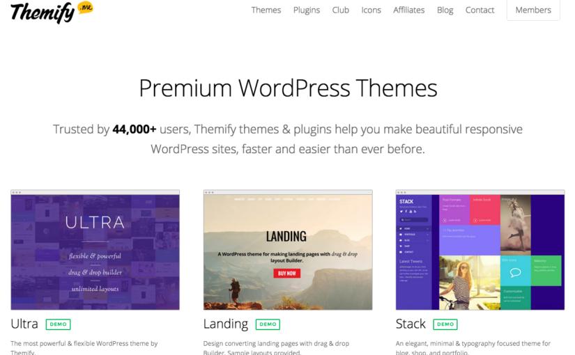 WordPressテーマを「Themify」に変更しました